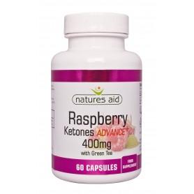 Raspberry Ketones Advance + 400 mg cu ceai verde - 60 capsule vegetale Natures Aid