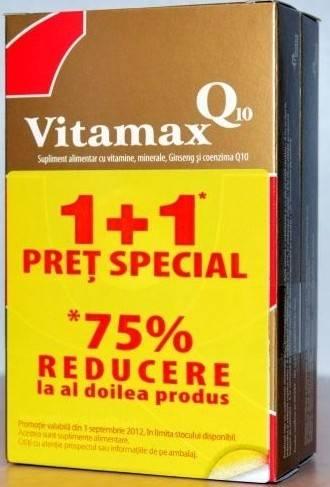 Pachet Promo Vitamax Q10 15 cps (1+1) thumbnail