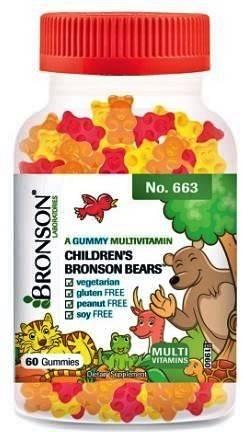 multivitamine copii bronson ursuleti gumati 60buc (gummy bears)