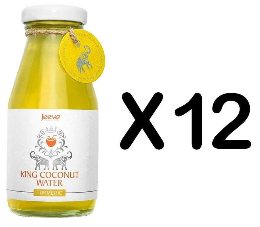 Set 12 Sticle Apa de Nuca de Cocos cu Turmeric 200ml Jeeva thumbnail