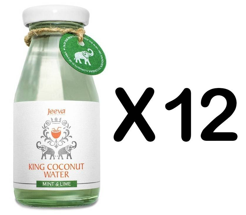 Set 12 Sticle Apa de Nuca de Cocos Menta si Lamaie 200ml Jeeva thumbnail