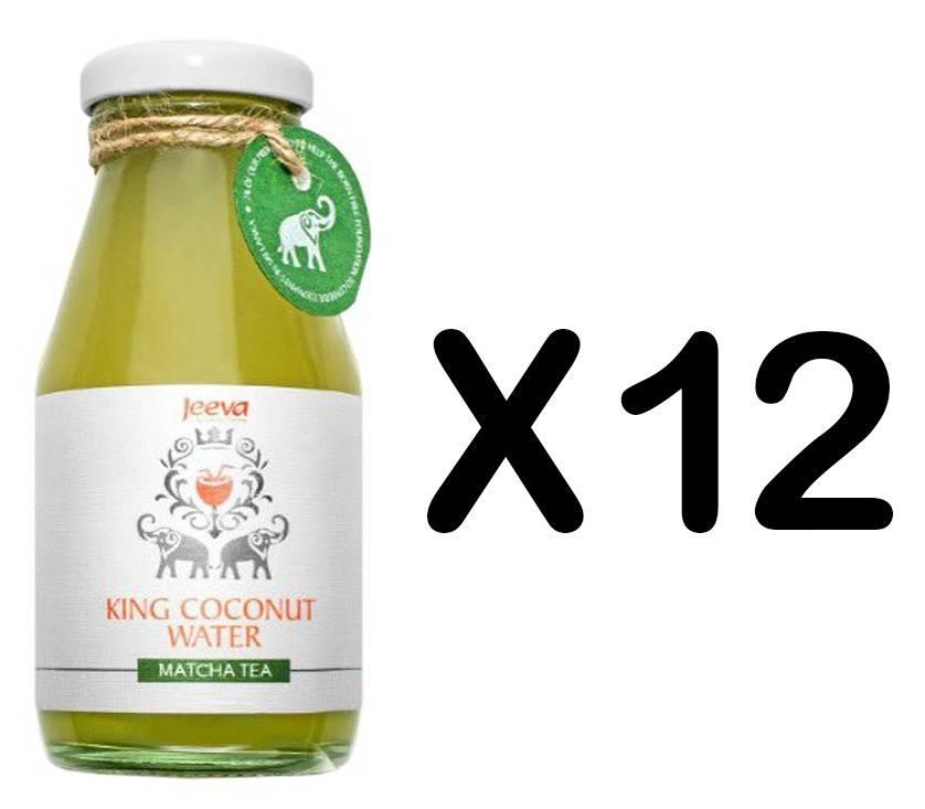 Set 12 Sticle Apa de Nuca de Cocos cu Ceai Matcha 200ml Jeeva thumbnail