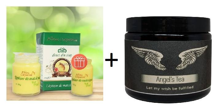 laptisor de matca 100 g + 25 g gratis + angels tea 28g