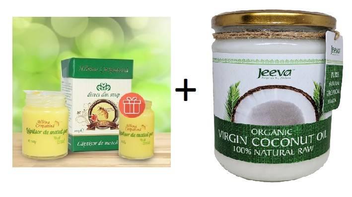 laptisor de matca 100g +25g gratis + ulei de cocos 500ml raw organic extra virgin
