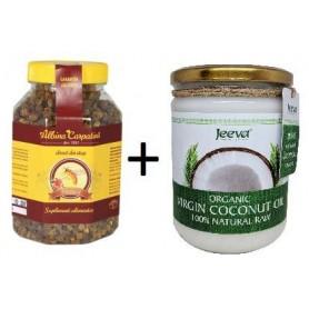 Pastura 500g Albina Carpatina + Ulei de Cocos 500ml Raw Organic Extra Virgin