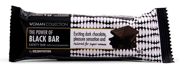 Imagine indisponibila pentru Woman Collection Black bar- Baton ciocolata neagra 40g -GOLDNUTRITION