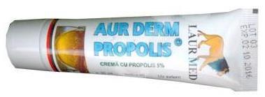 crema cu propolis 5% aur derm, 30 ml, laur med