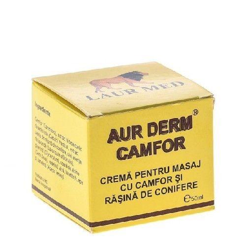 crema pentru masaj cu camfor si rasina de conifere aur derm, 50 ml, laur med