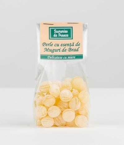 bomboane perle cu esenta de muguri de brad 100g - apidava