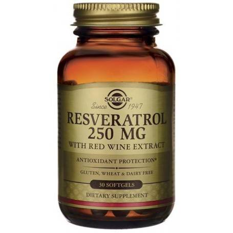 Resveratrol 250mg softgels 30s SOLGAR