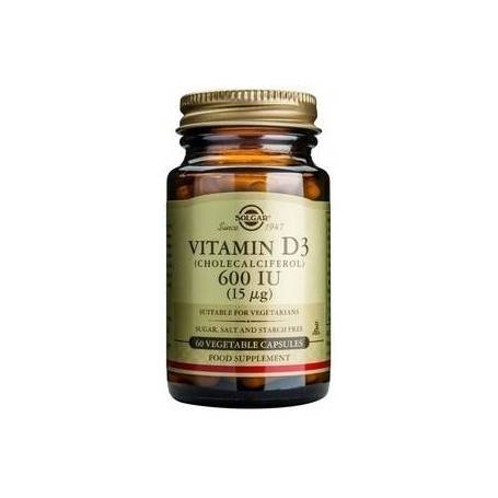 Vitamin D3 600 IU veg.caps 60s SOLGAR