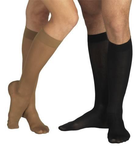 ciorapi 3/4 cu varf, grad i de compresie